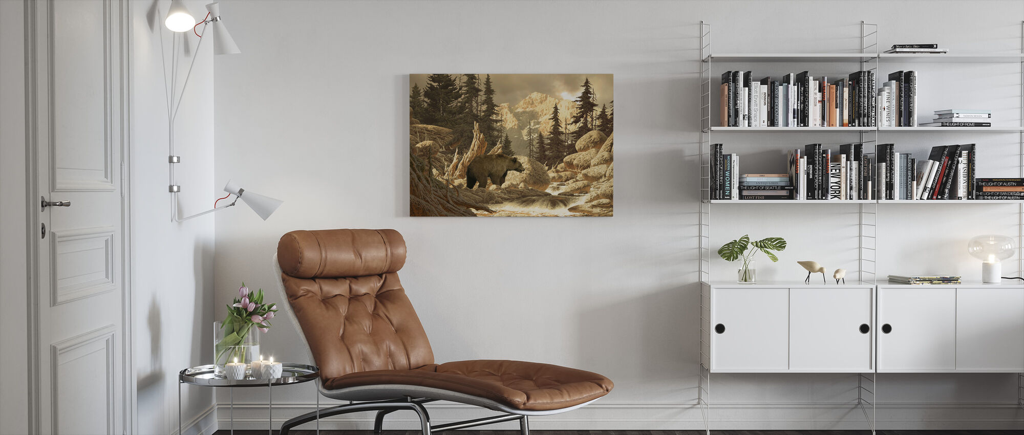 Grizzly Bear in the Tetons - Canvas print - Living Room