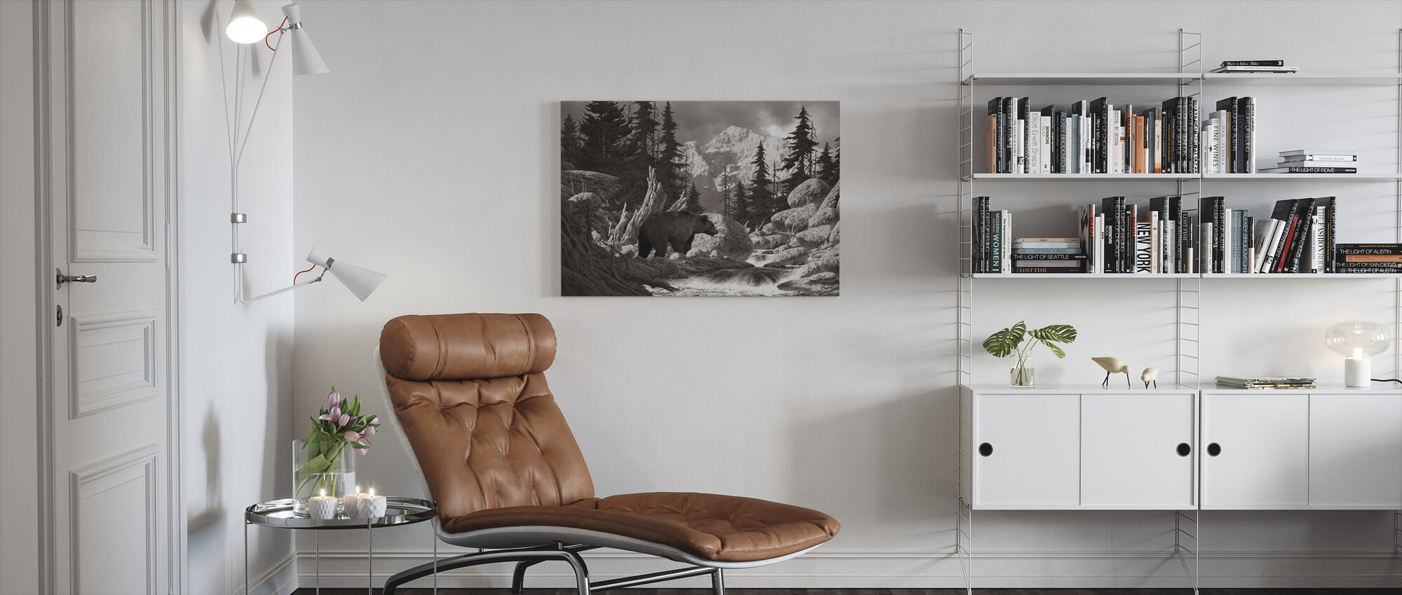 Grizzly Beer in de Tetons - Canvas print - Woonkamer