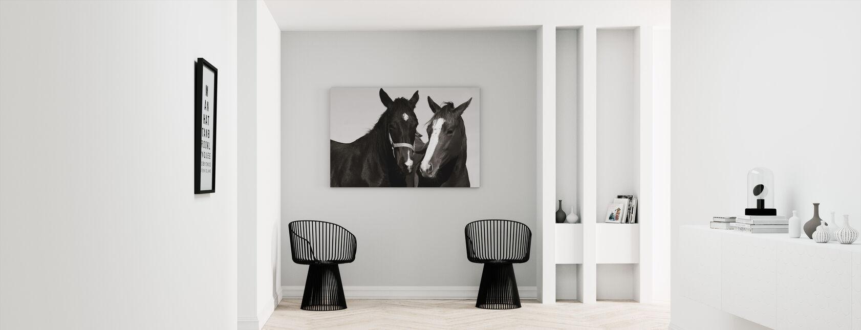 Two Thoroughbreds - Canvas print - Hallway
