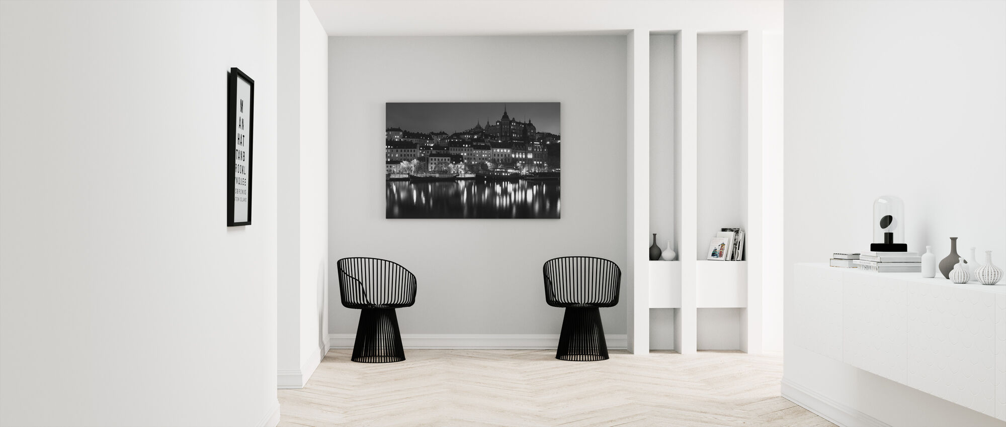 Ljus i Stockholm - Canvastavla - Hall