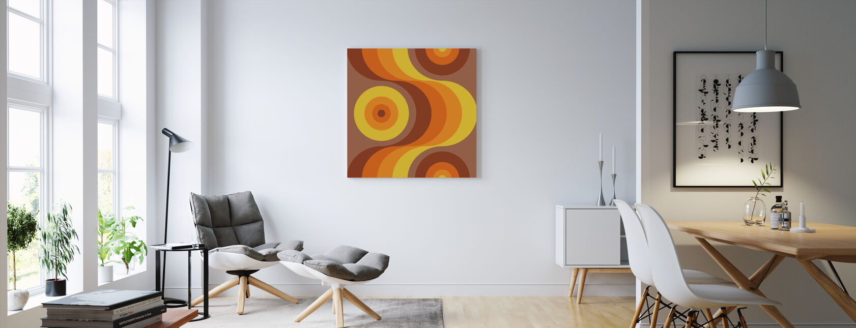 Retro Orange - Canvas print - Living Room