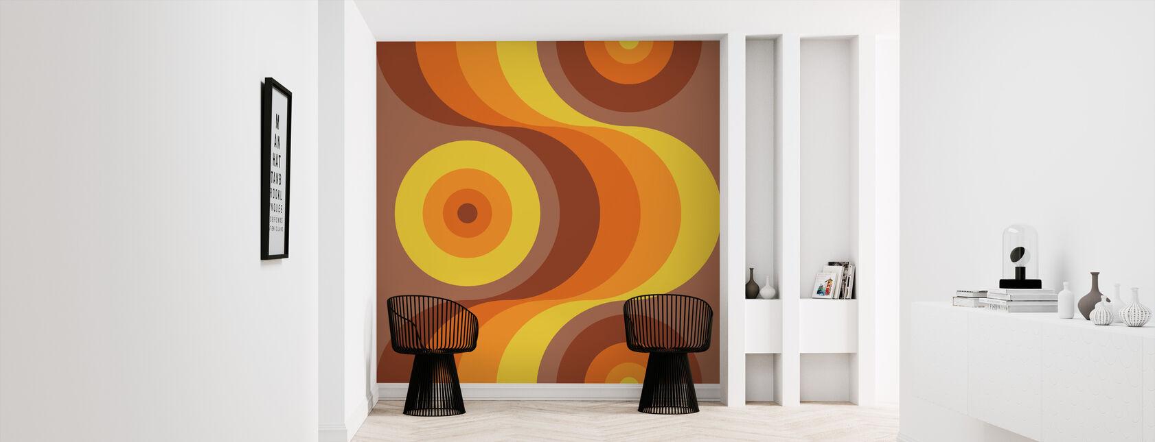 Retro Orange - Wallpaper - Hallway