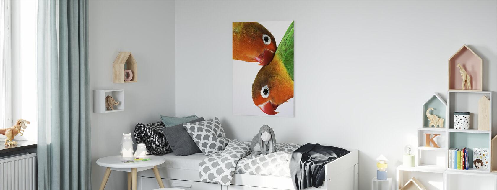 Pair of Lovebirds - Canvas print - Kids Room
