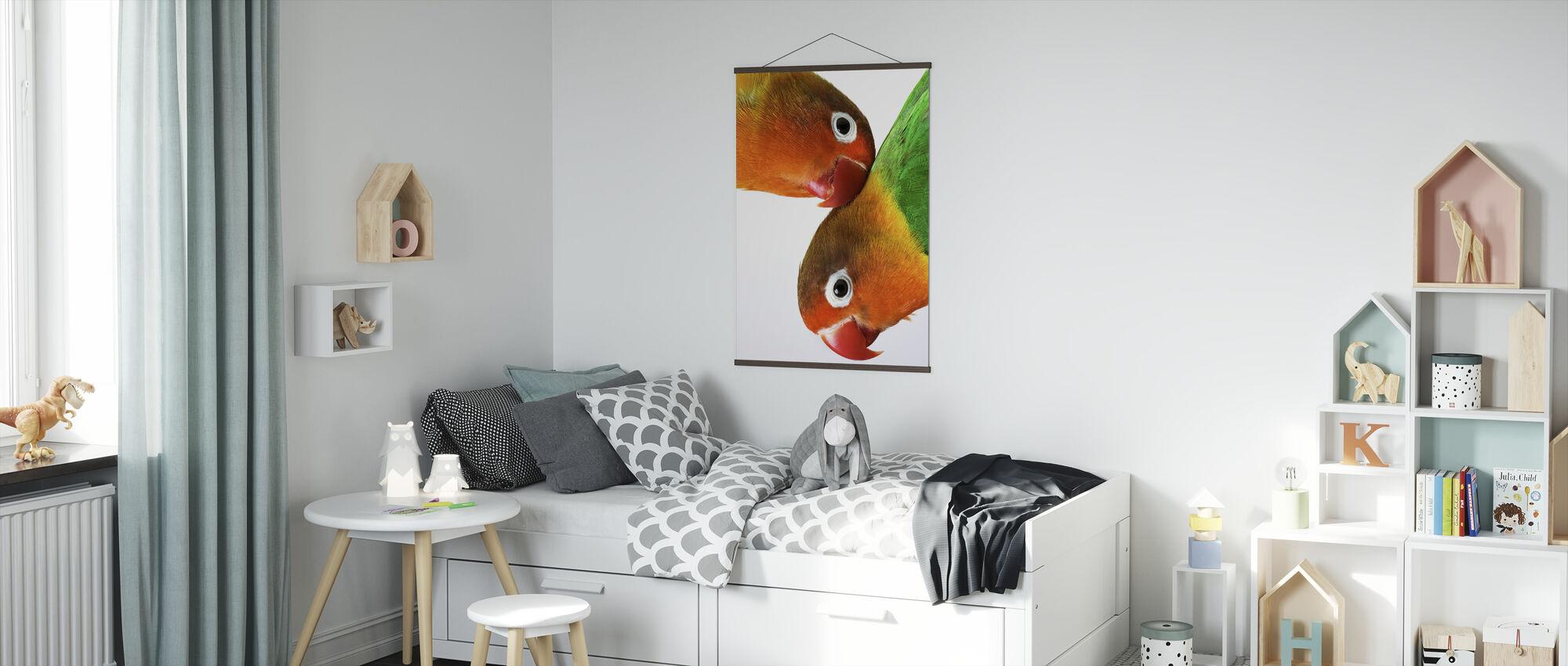 Pair of Lovebirds - Poster - Kids Room