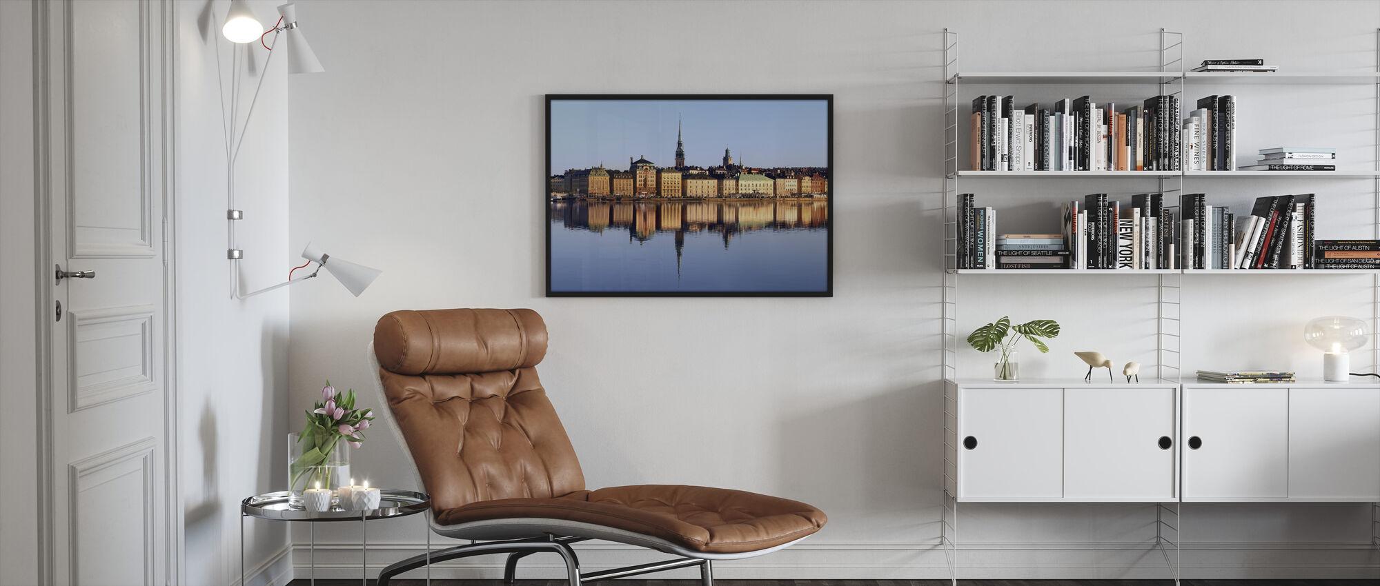 Stockholm Skeppsbron - Framed print - Living Room