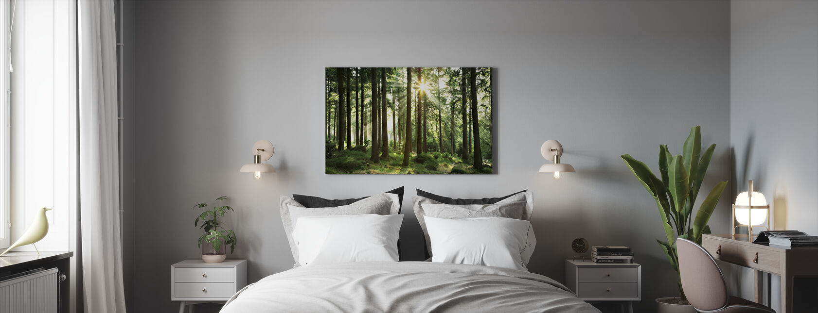 Sunbeam through Trees - Canvas print - Bedroom