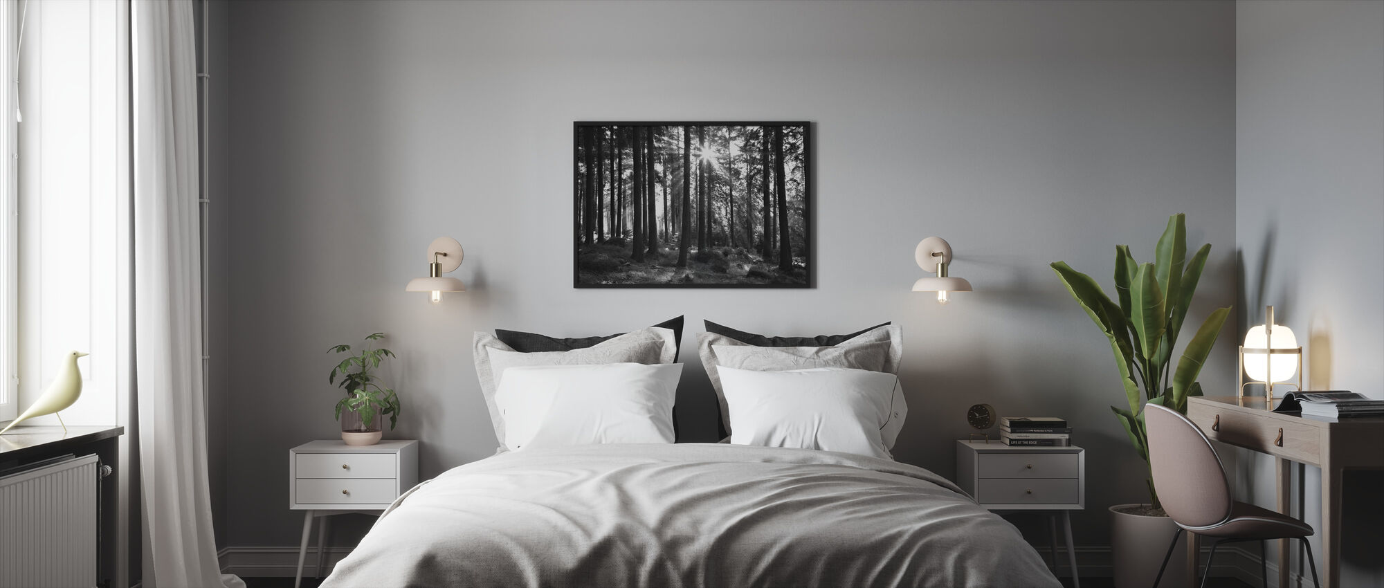 Sunbeam through Trees - Framed print - Bedroom