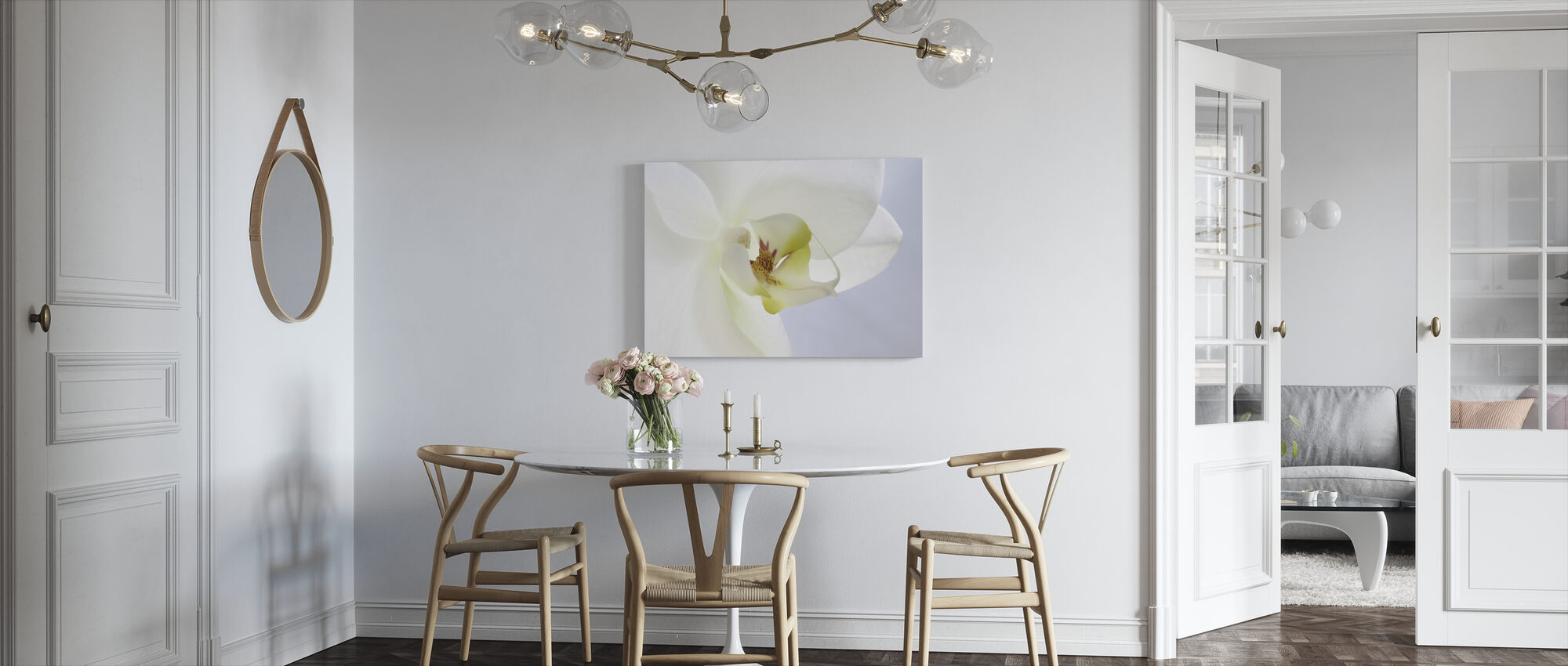 White Orchid - Canvas print - Kitchen