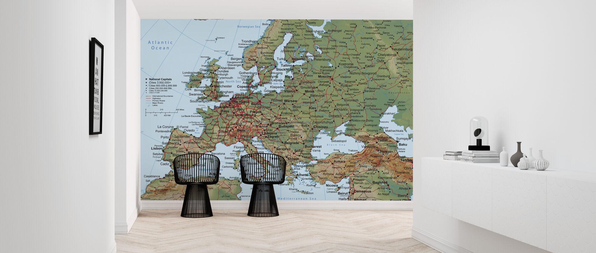 Europe Map - Wallpaper - Hallway