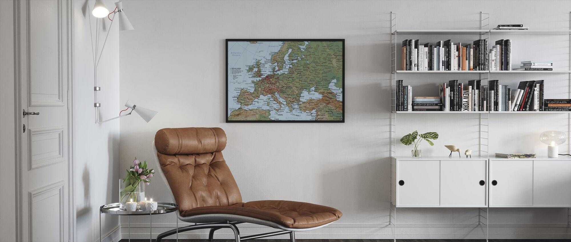 Mappa Europa - Stampa incorniciata - Salotto