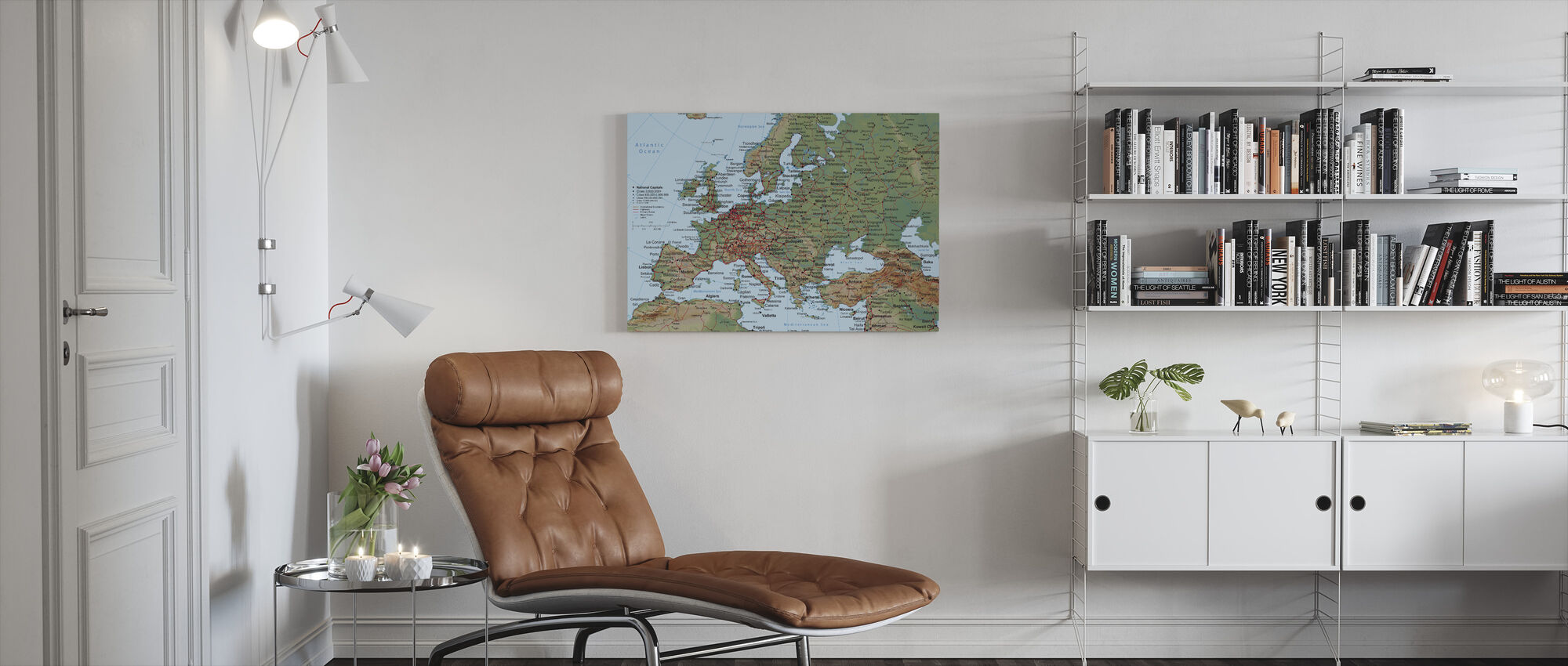 Europa Karta - Canvastavla - Vardagsrum
