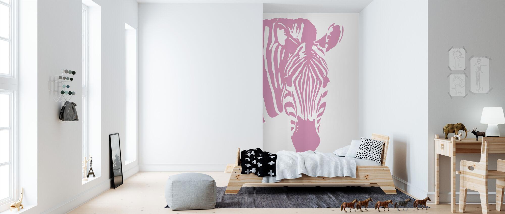 Watching Zebra - Wallpaper - Kids Room