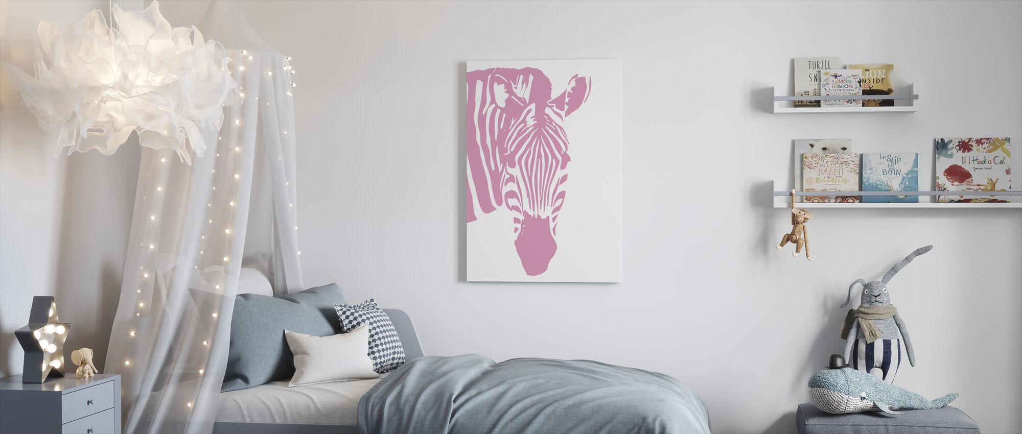 Watching Zebra - Canvas print - Kids Room