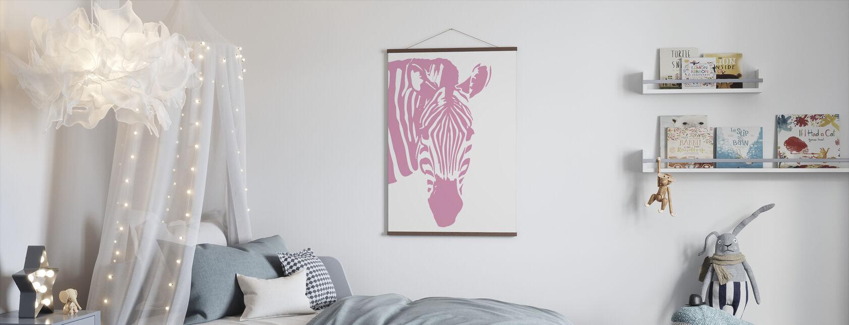 Watching Zebra - Poster - Kids Room