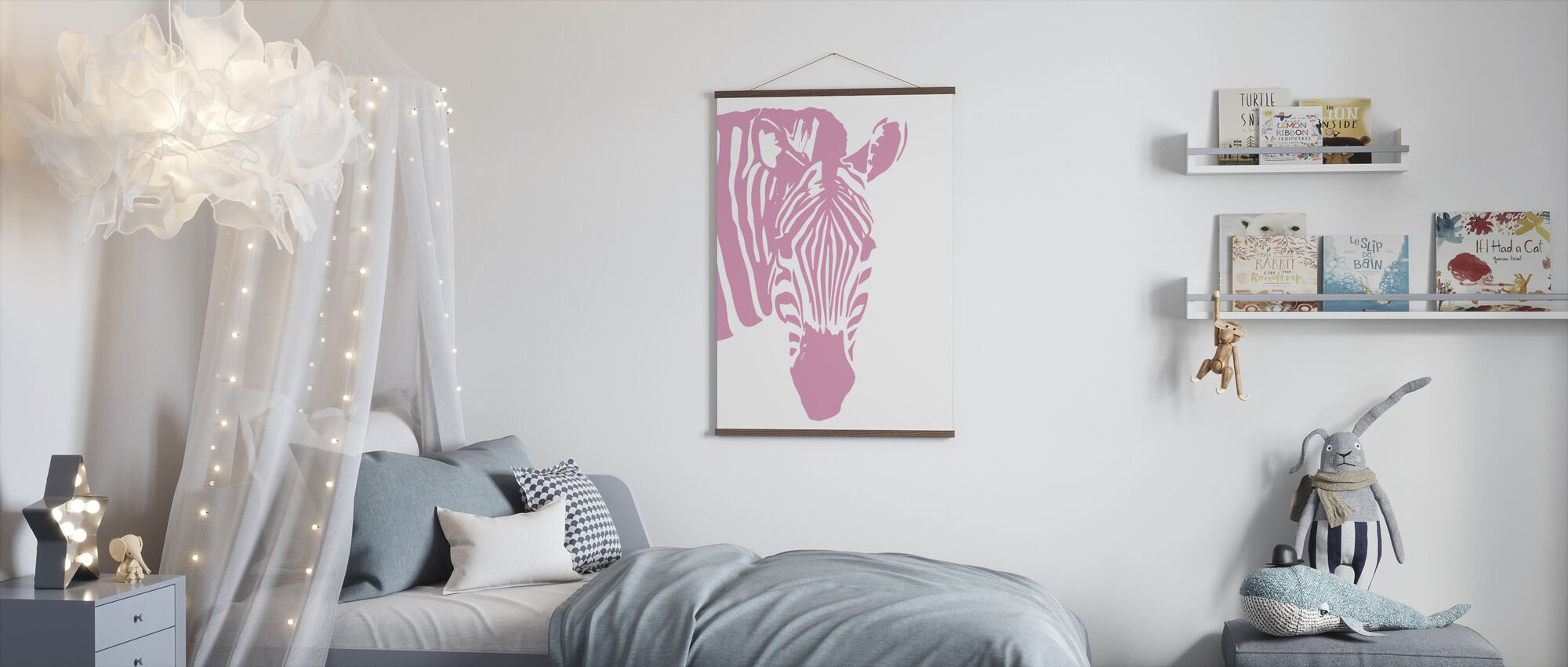 Watching Zebra - Poster - Kids Room
