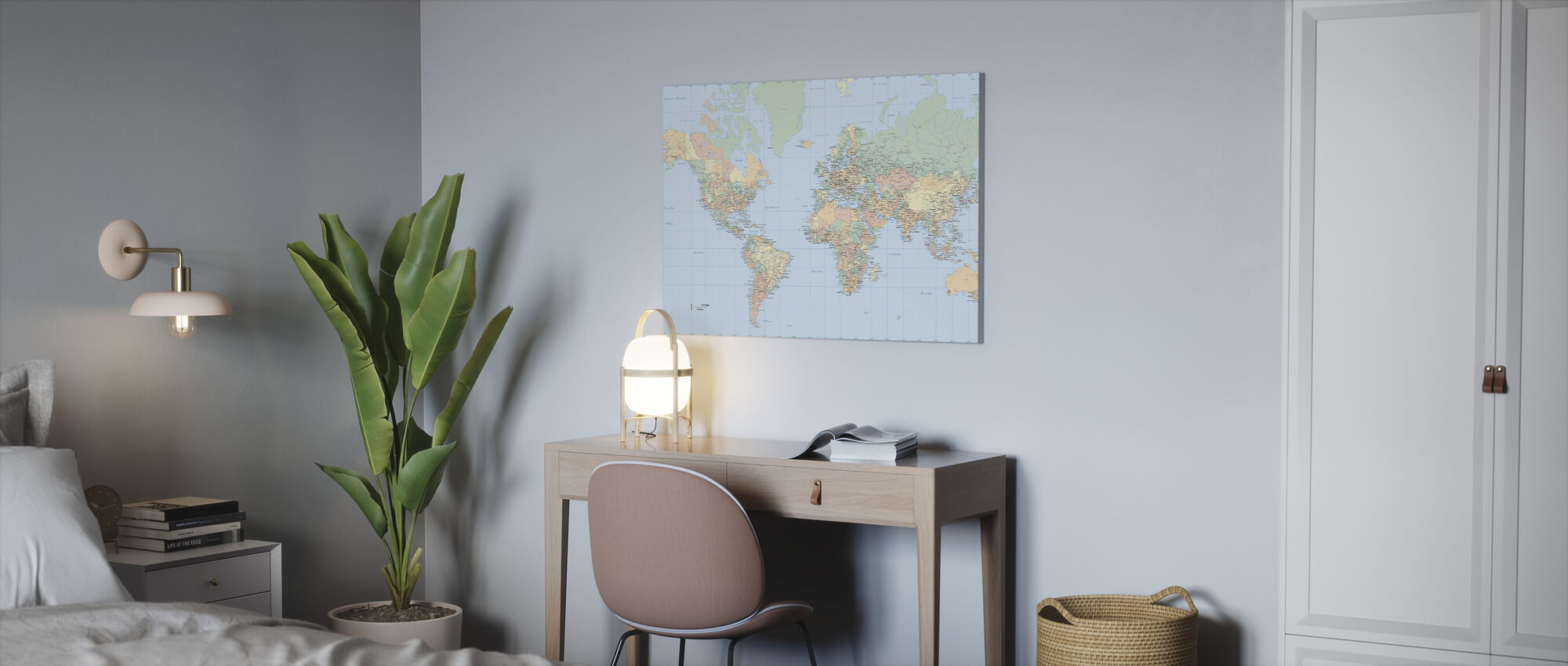 World Map - Canvas print - Office