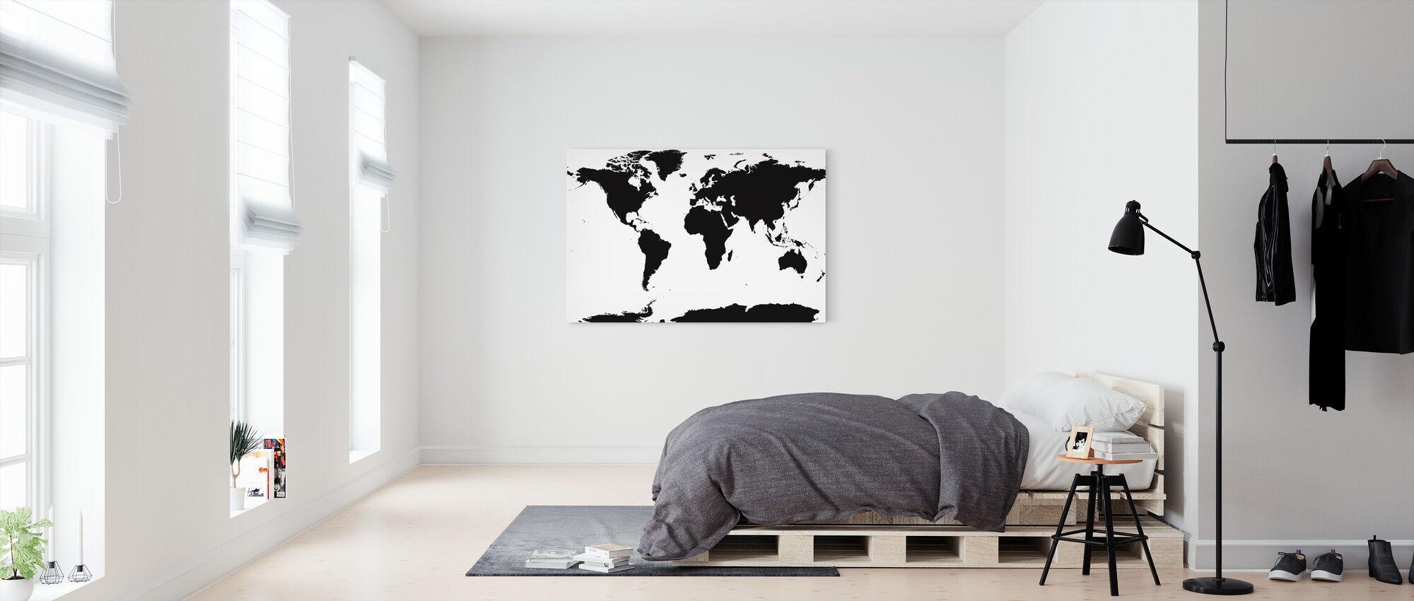 Carte du monde - Impression sur toile - Chambre