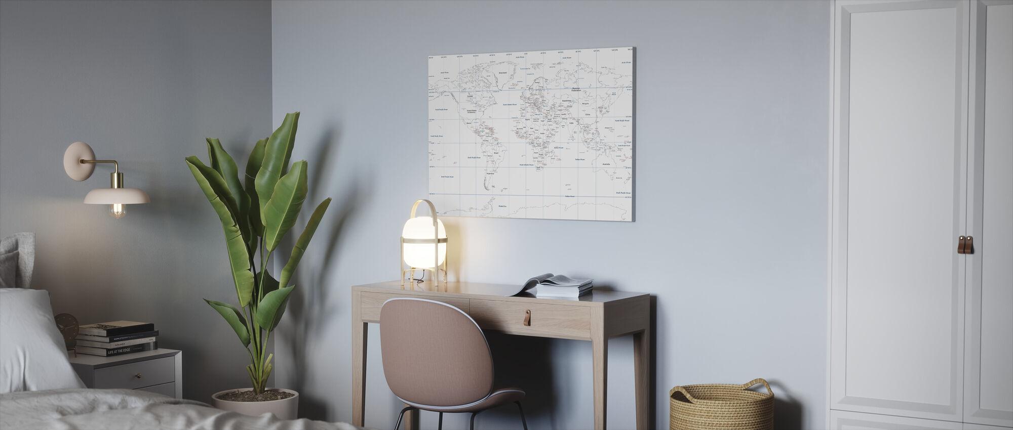Maailman Kartta - Canvastaulu - Toimisto