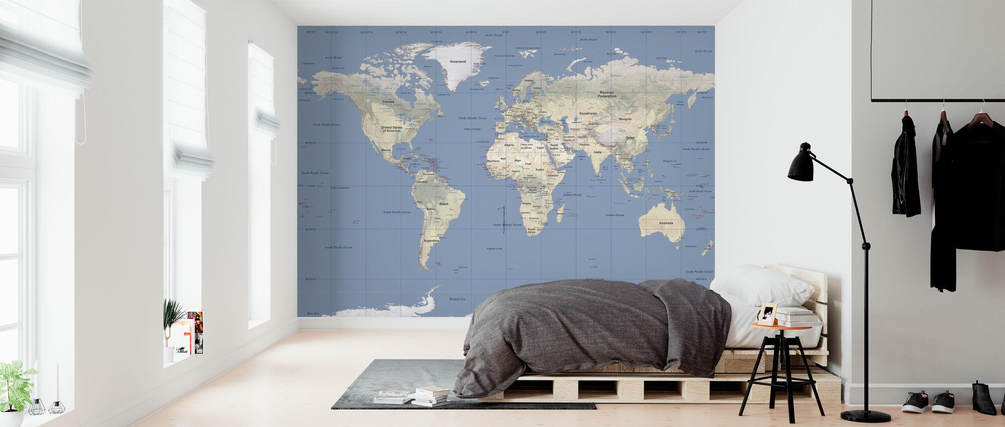Verdenskort - Tapet - Soveværelse