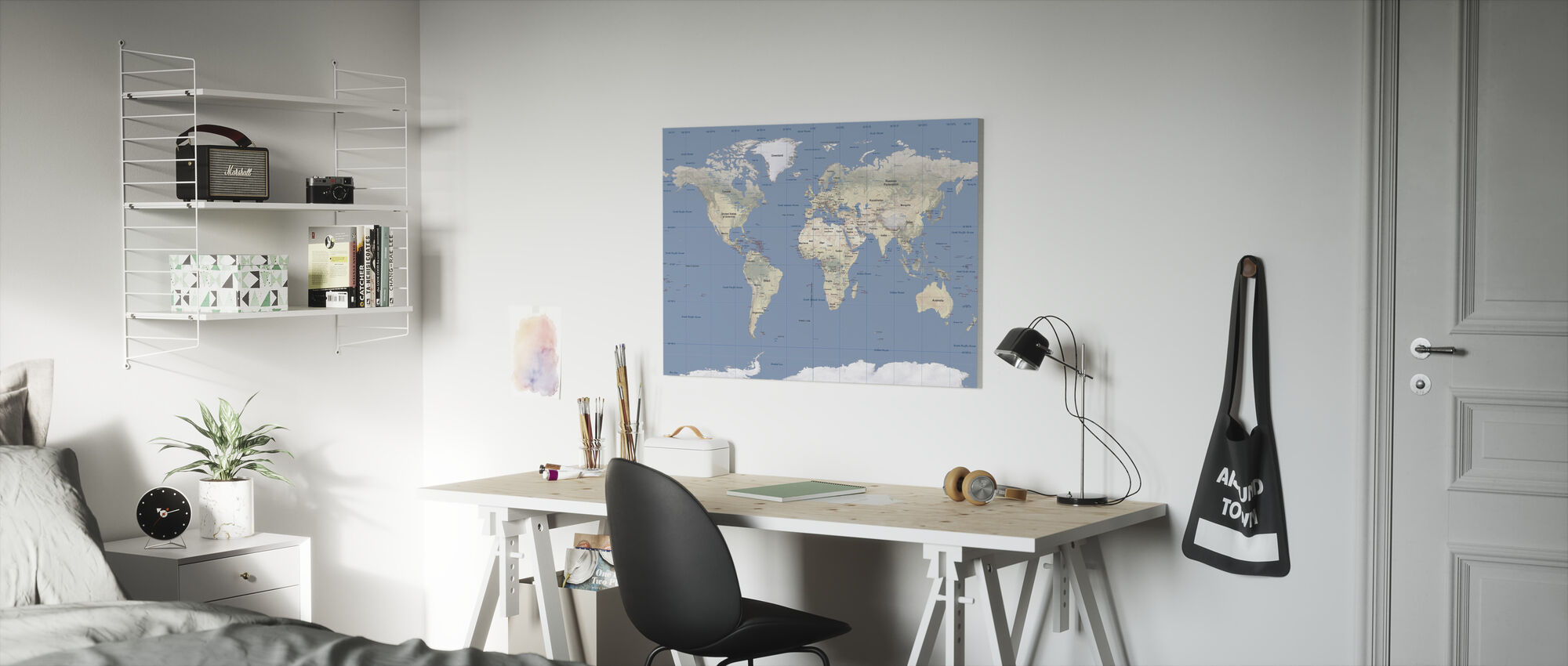 World Map - Canvas print - Kids Room