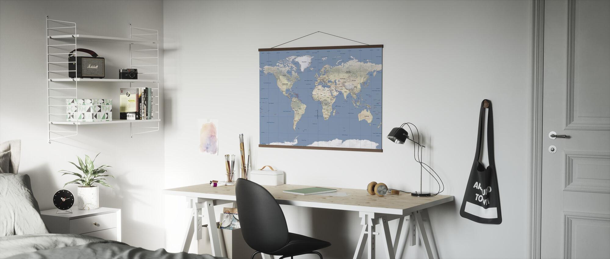 Verdenskart - Plakat - Kontor