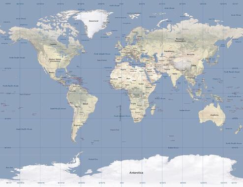 Utrolig Verdenskart – trendy bilder på lerret – Photowall ZB-12