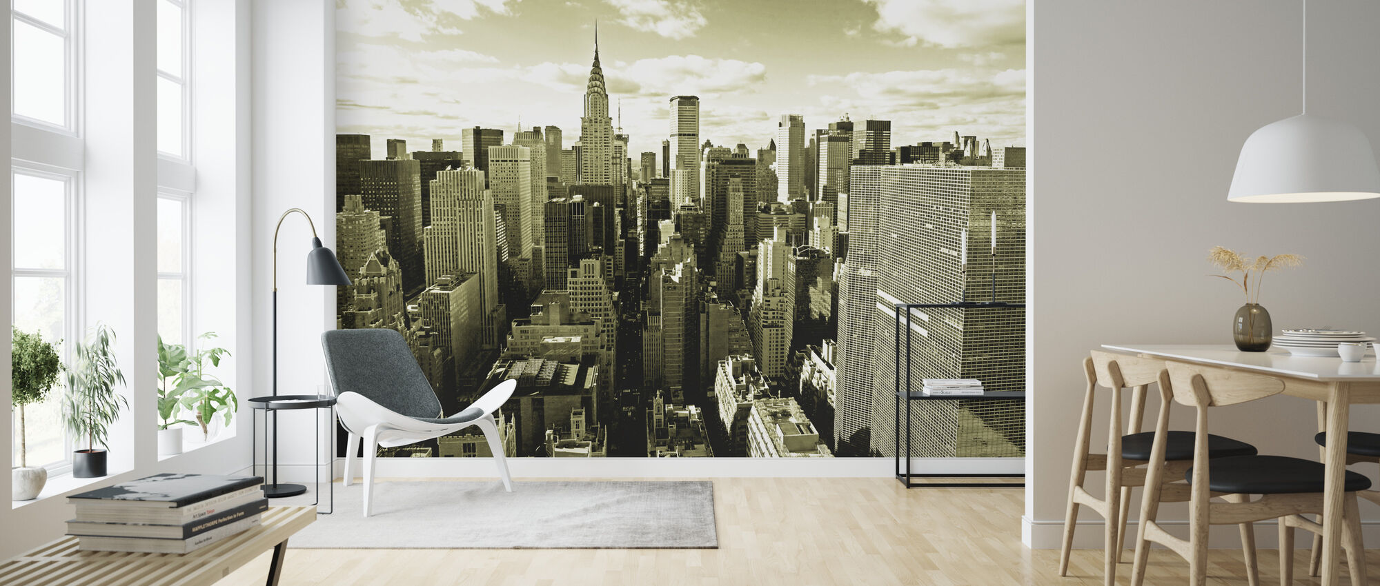 Above Manhattan - Wallpaper - Living Room