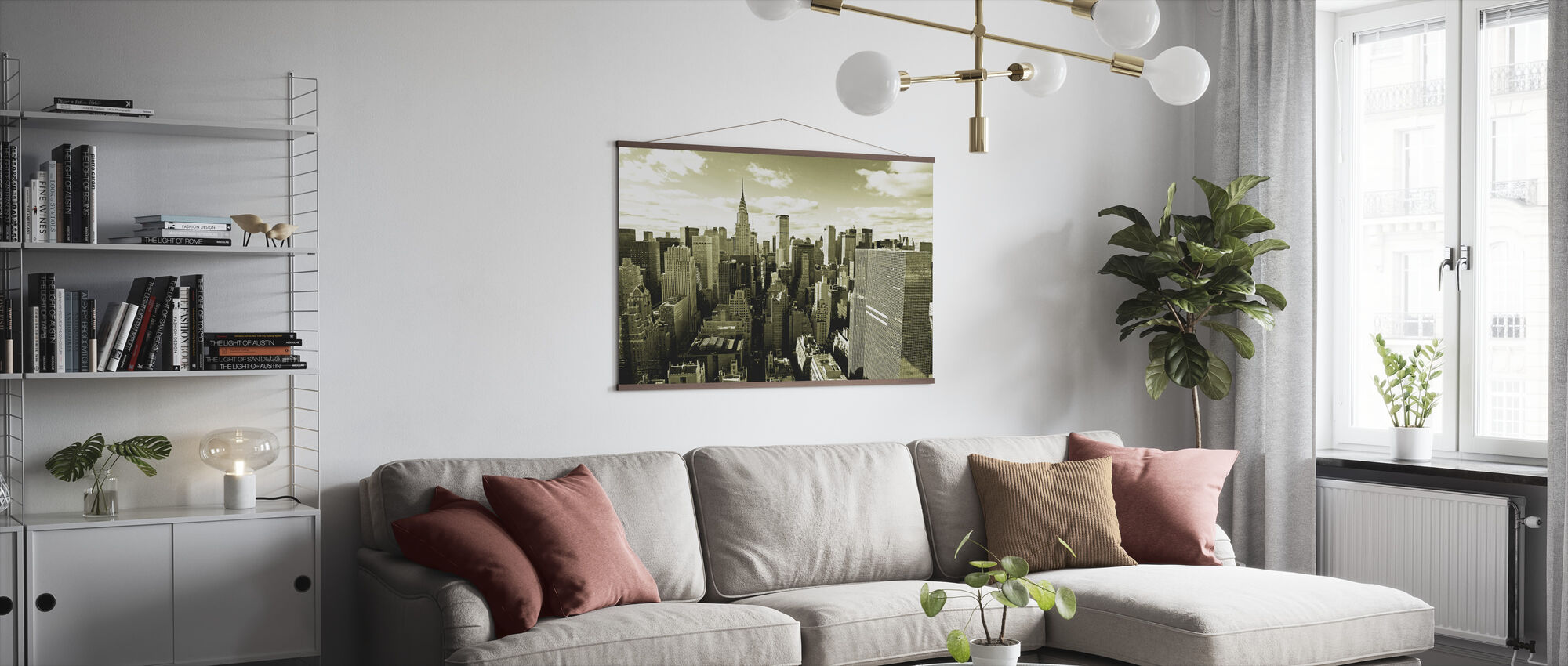 Above Manhattan - Poster - Living Room