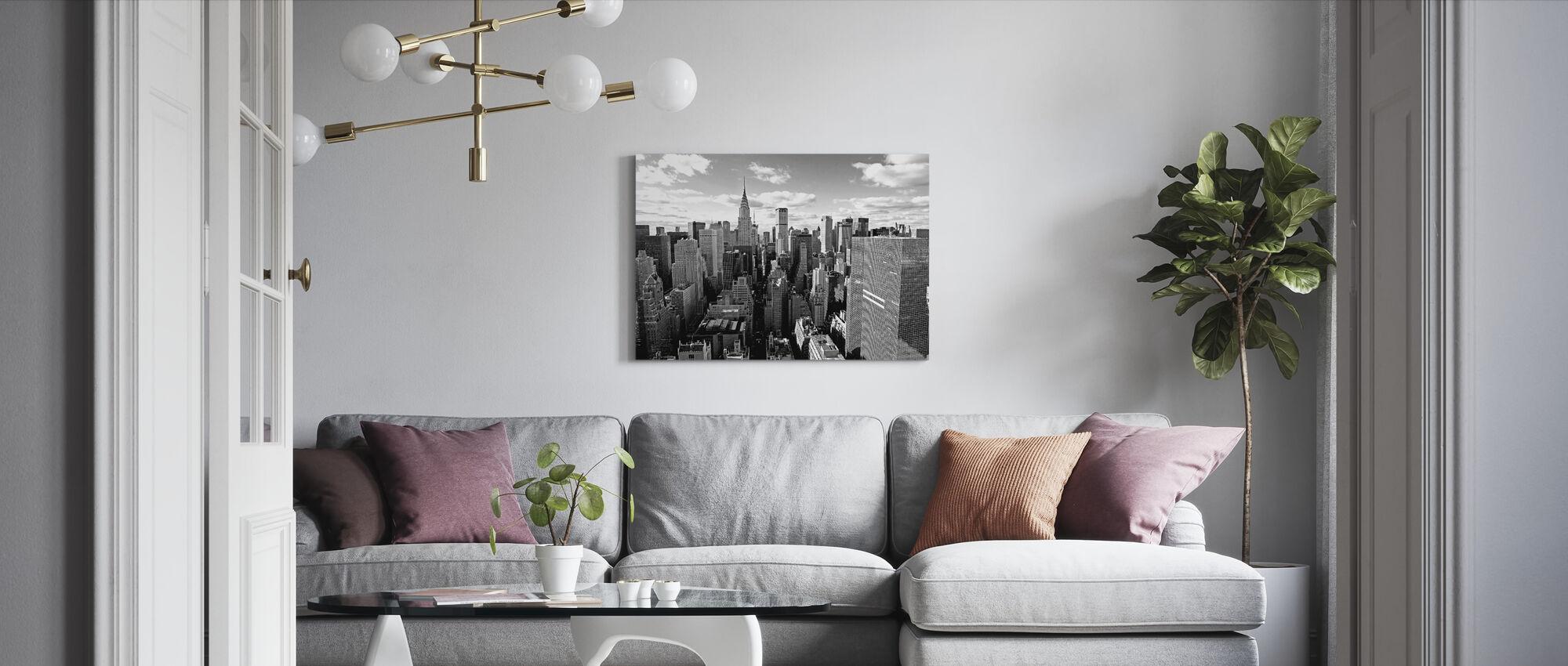 Ovanför Manhattan - Canvastavla - Vardagsrum
