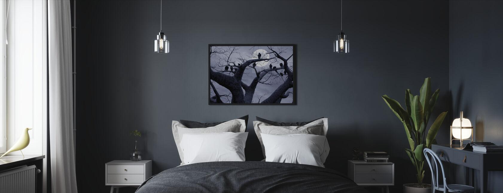 Spooky Träd - Inramad tavla - Sovrum