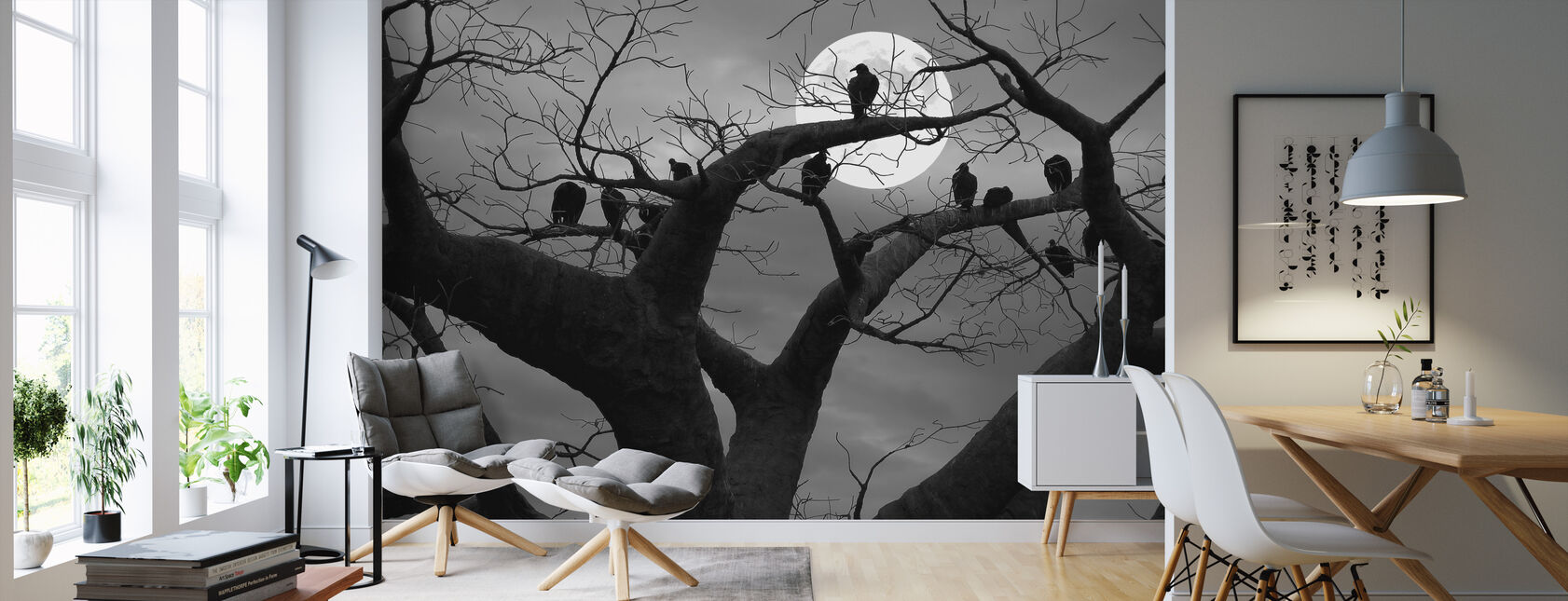 Spooky Tree - Wallpaper - Living Room