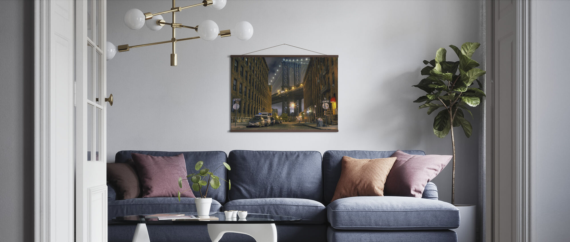 Washington Street, Manhattan, New York - Poster - Living Room