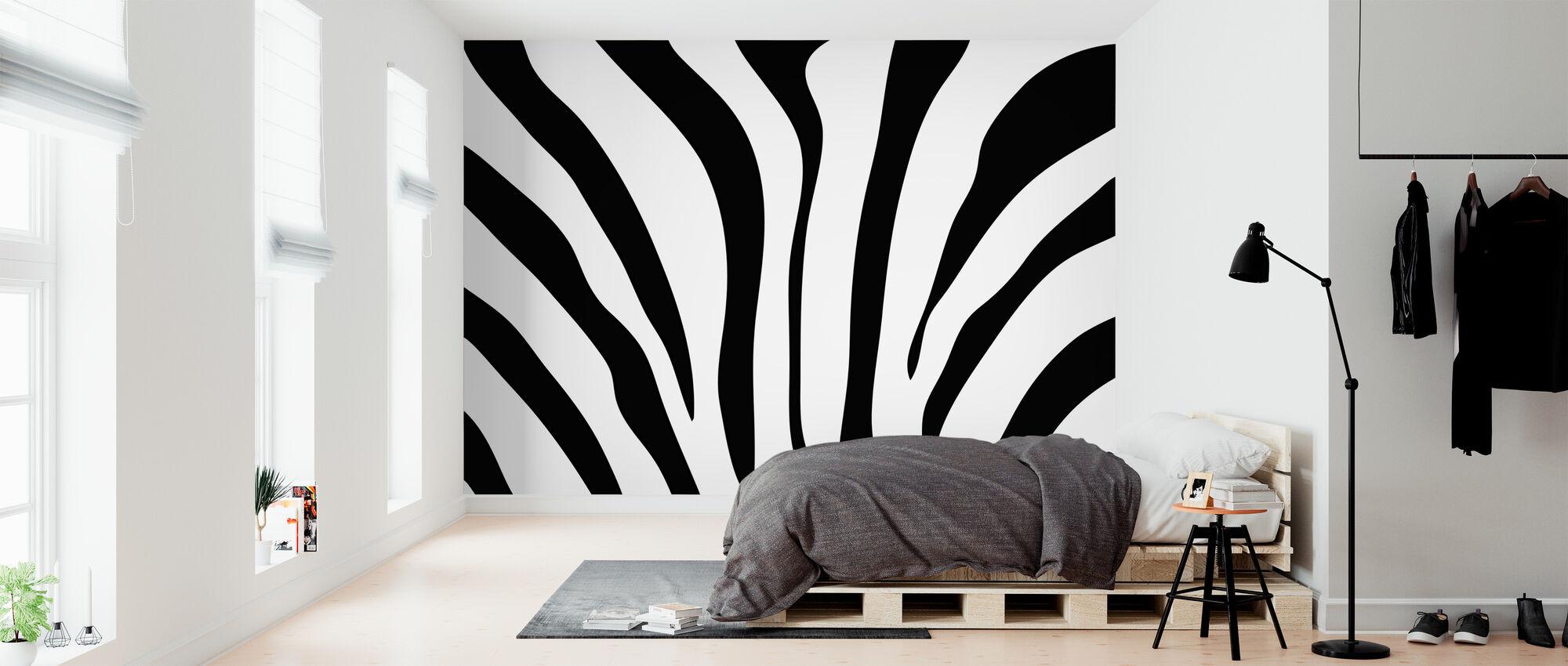Zebra-Struktur - Tapete - Schlafzimmer