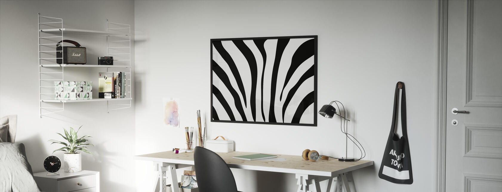 Zebra Texture - Framed print - Kids Room
