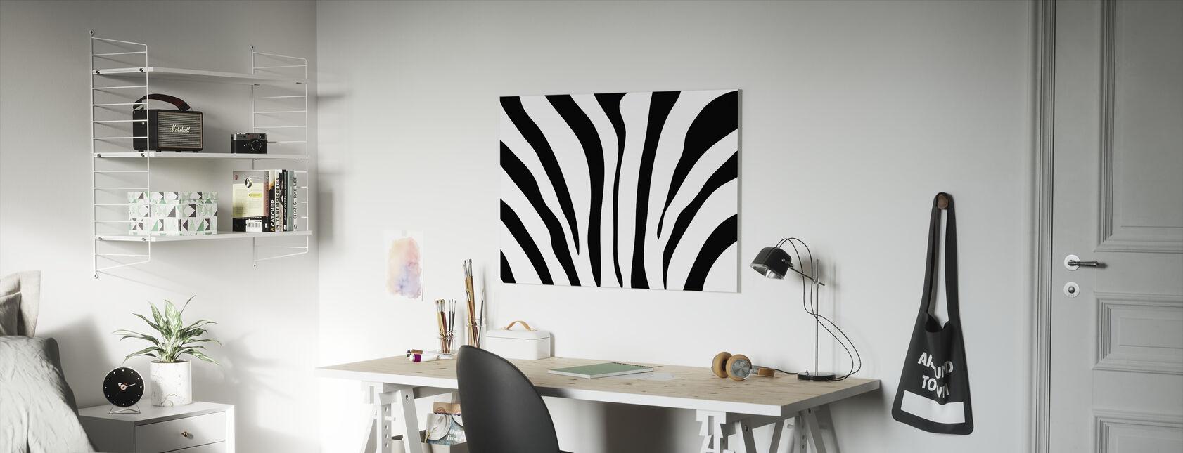 Zebra textur - Canvastavla - Barnrum