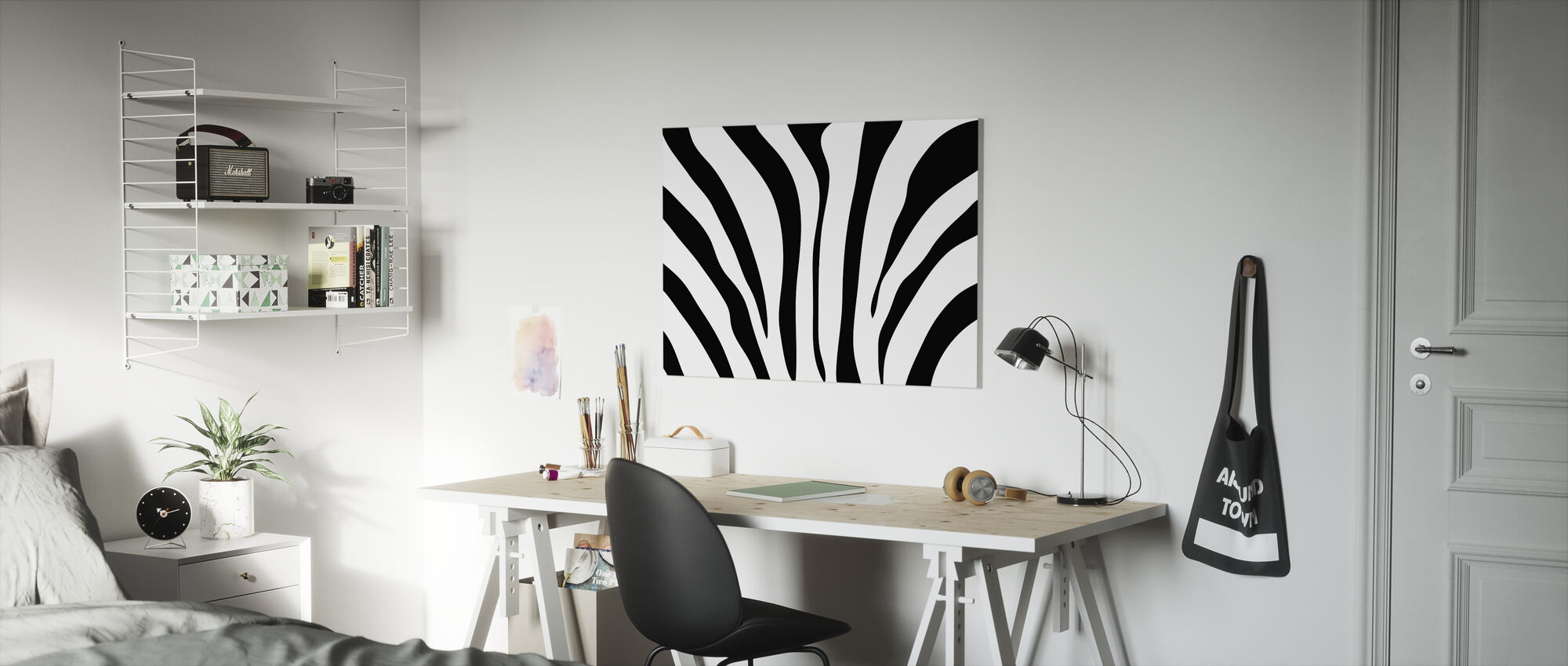 Zebra Texture - Canvas print - Kids Room