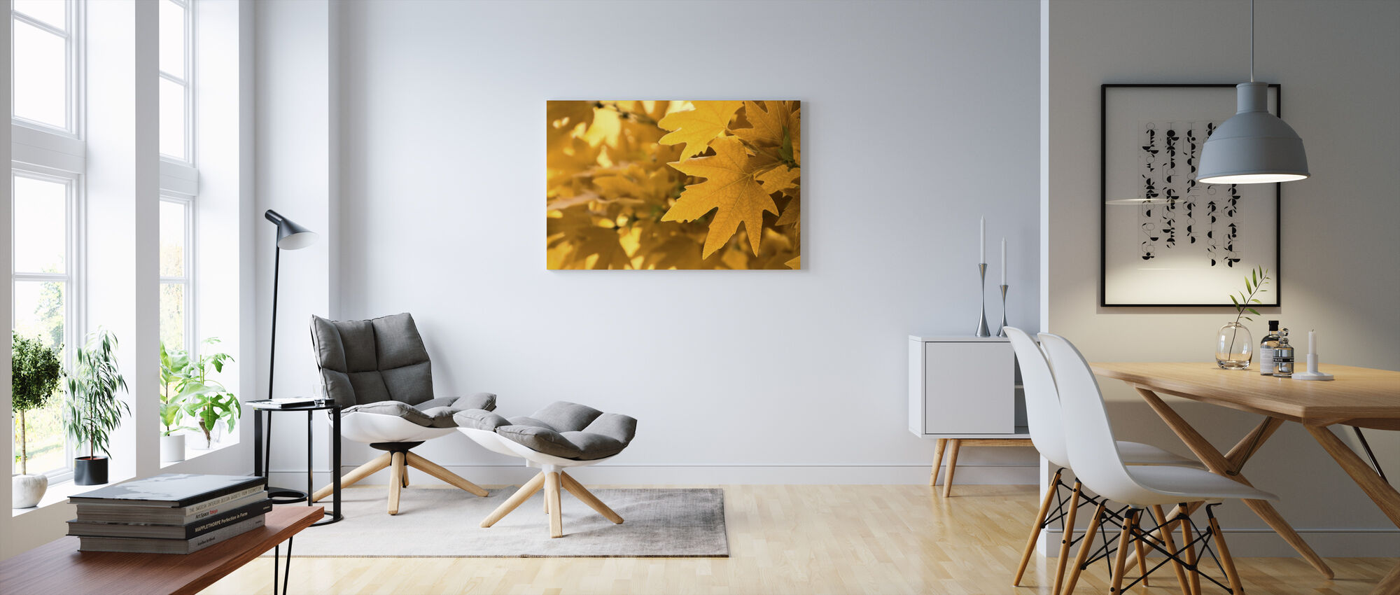 Gele bladeren - Canvas print - Woonkamer