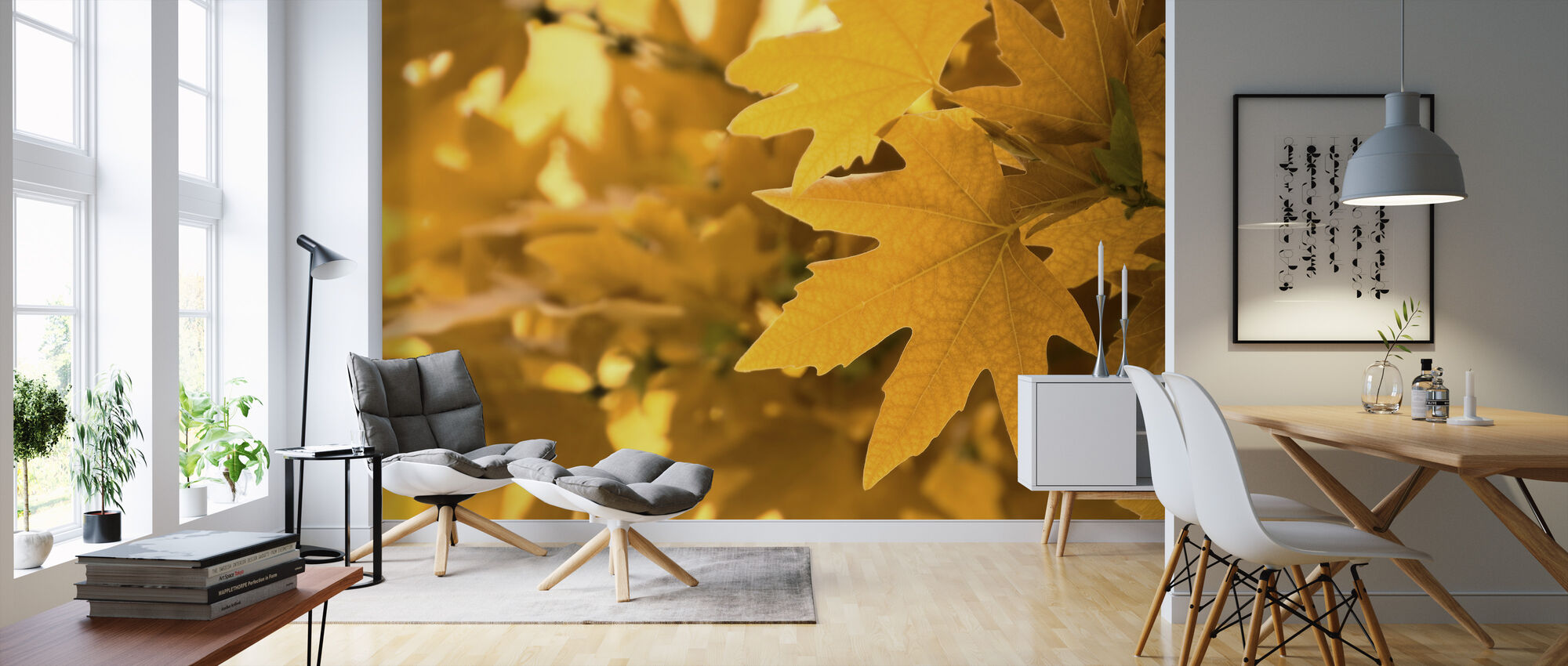 Yellow Leaves - Wallpaper - Living Room