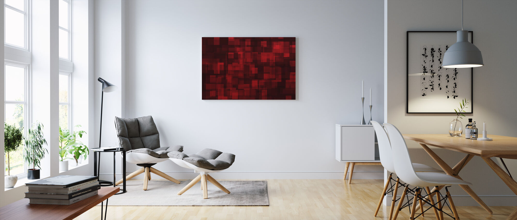 Chaotic Red - Canvas print - Living Room