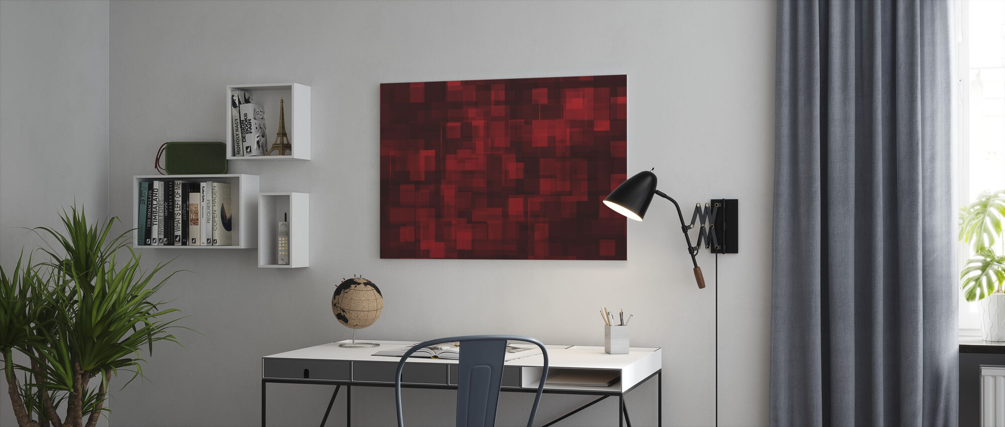 Chaotic Red - Canvas print - Office