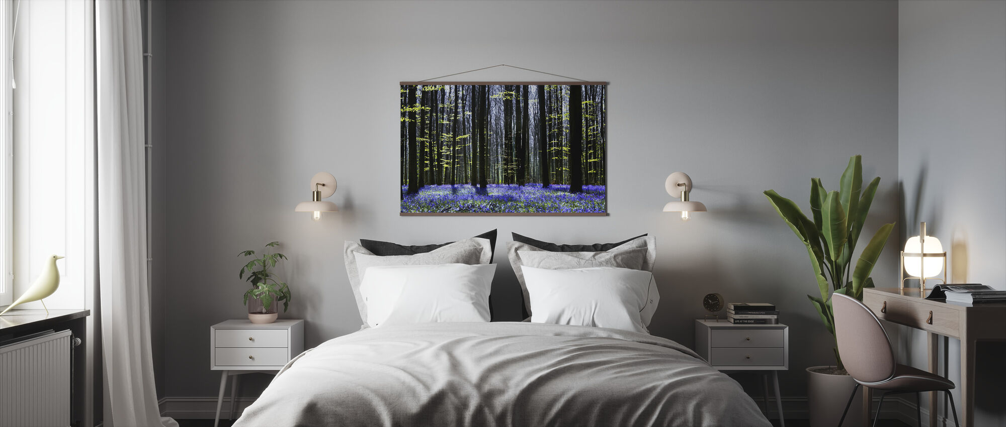 Dark Tree and Bluebells - Poster - Bedroom