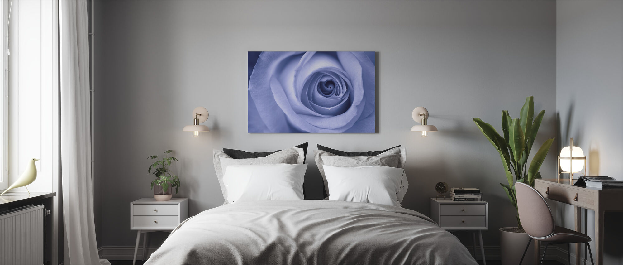 Blue Rose - Canvas print - Bedroom