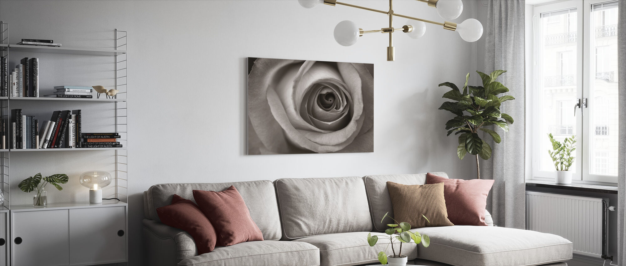 Blue Rose - Canvas print - Living Room