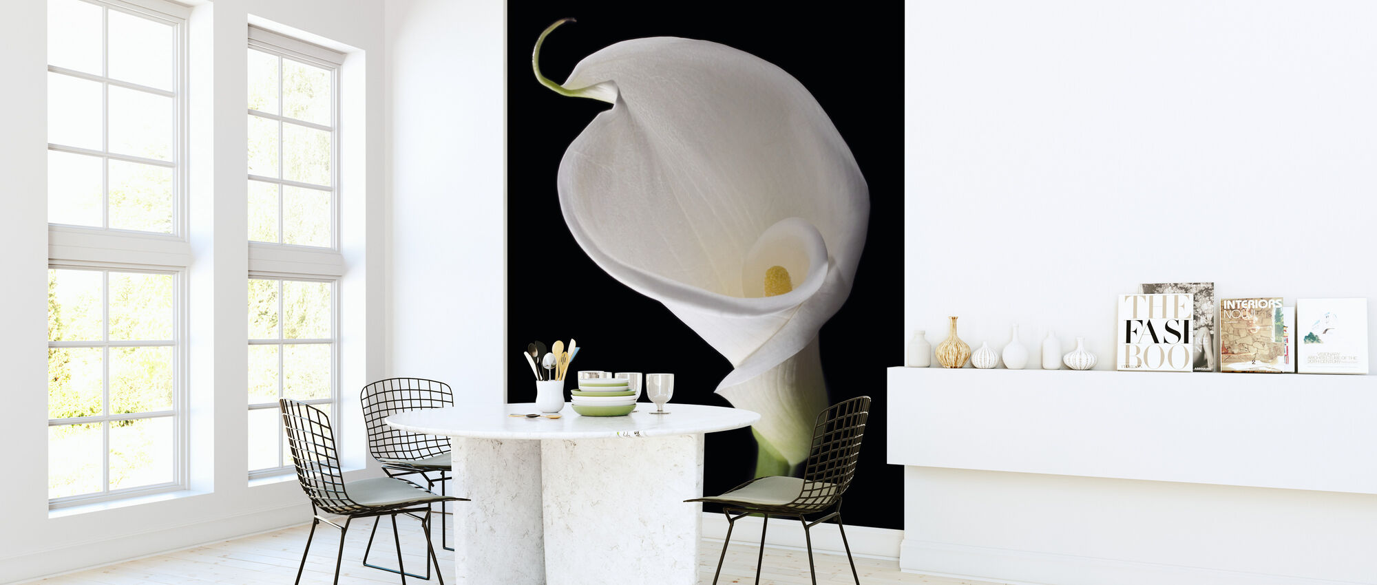 White Calla - Wallpaper - Kitchen