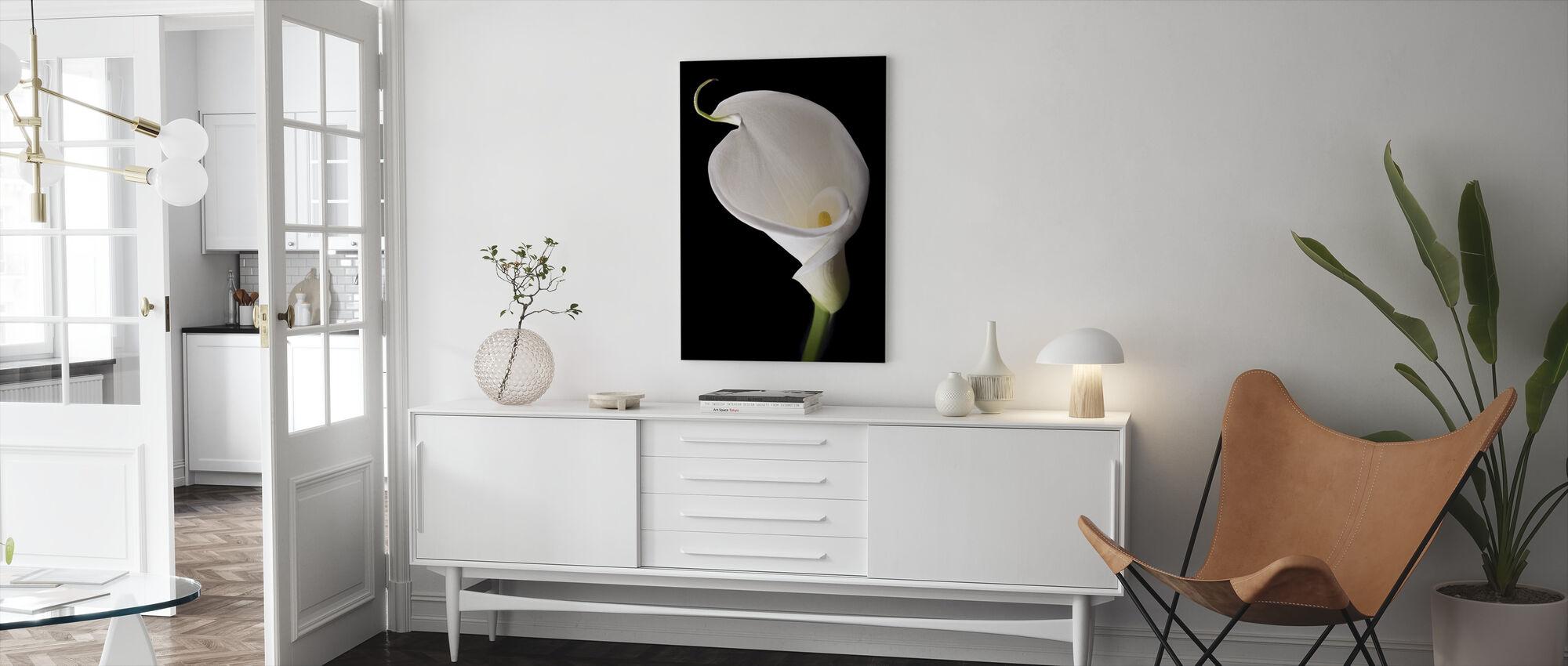 White Calla - Canvas print - Living Room