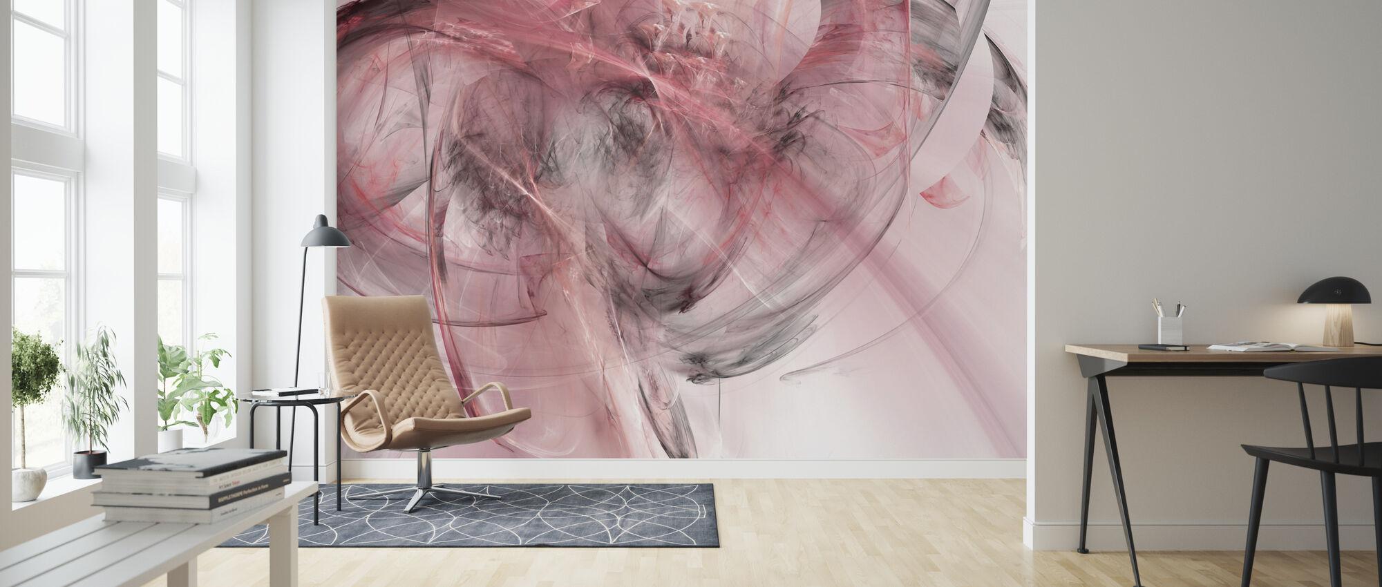 Vaaleanpunainen mökki - Tapetti - Olohuone
