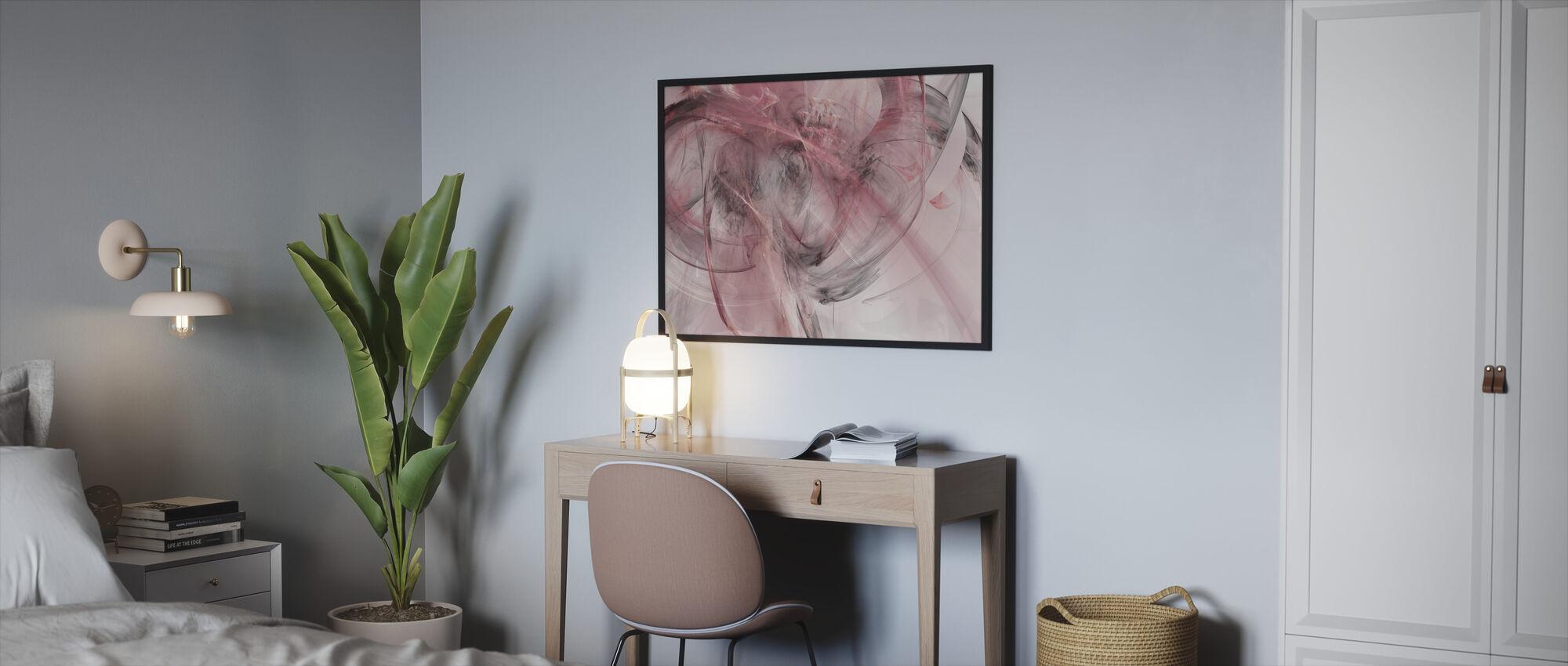 Pink Cabin - Framed print - Bedroom