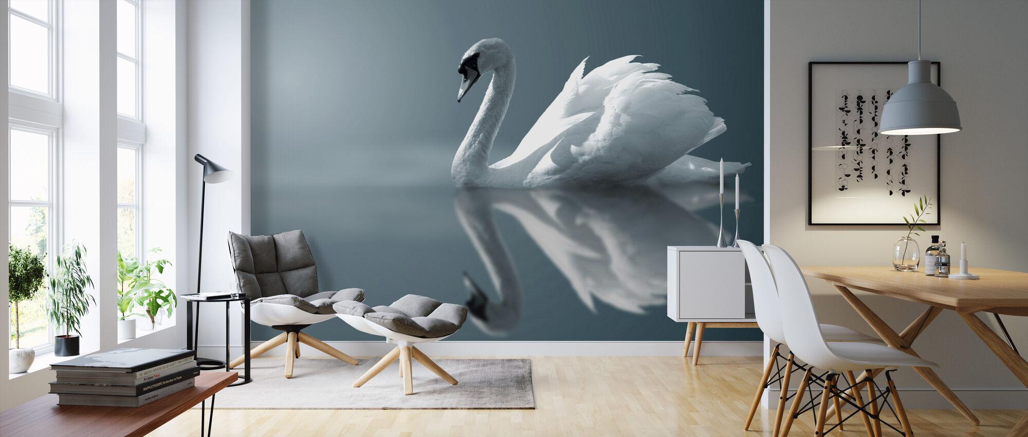 Swan Reflection - Wallpaper - Living Room