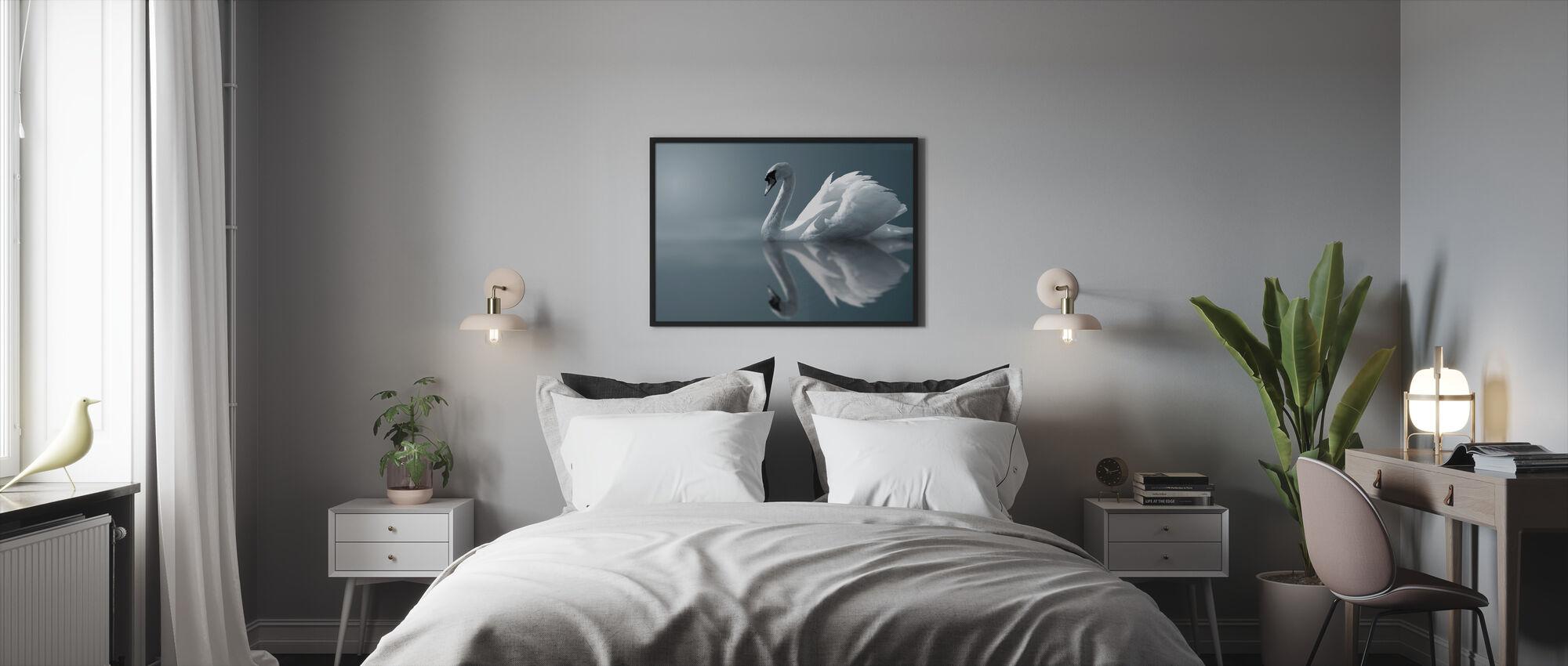 Swan Reflection - Framed print - Bedroom