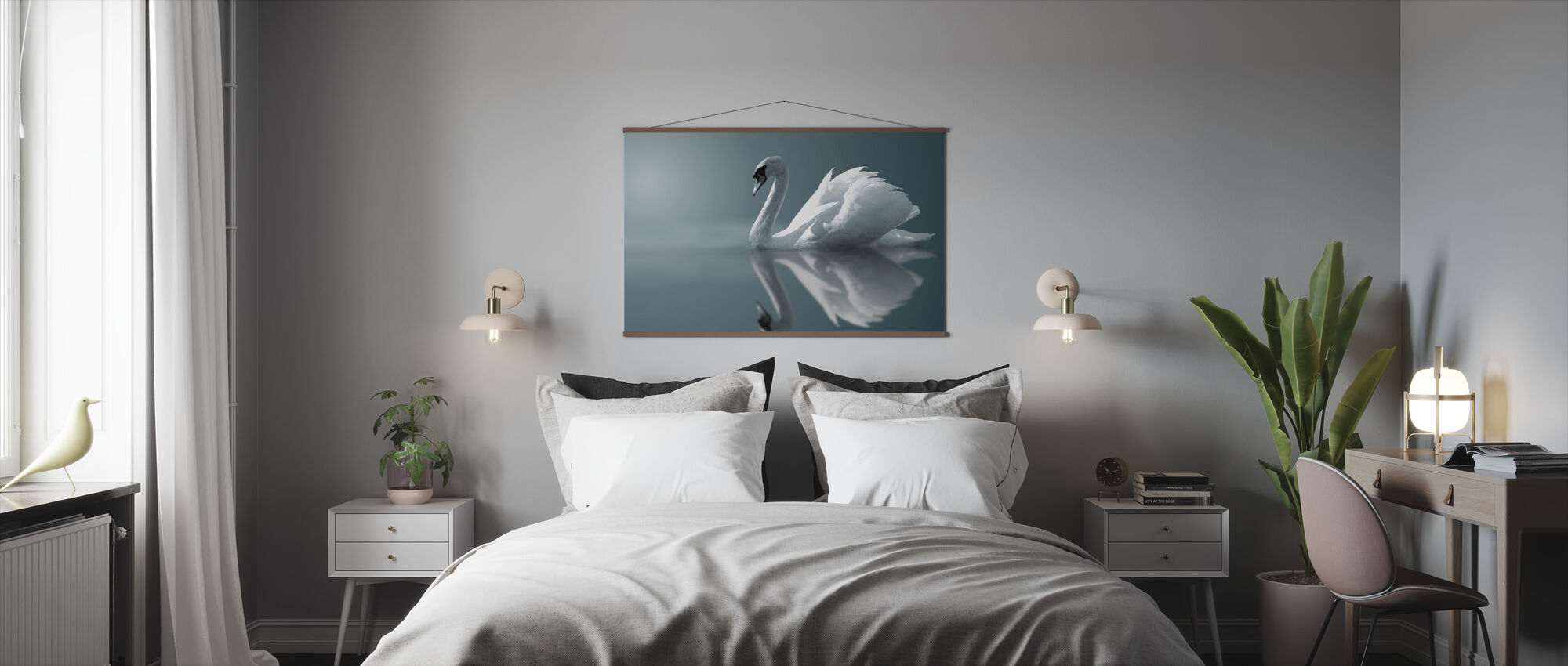 Swan Reflection - Poster - Bedroom